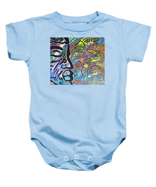 Multi-dimensional Beings Stepping Out The Body Walking Through The Cosmos Baby Onesie