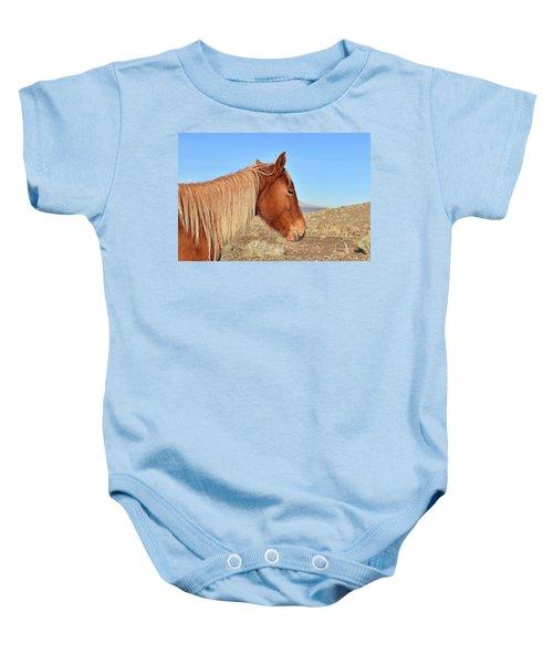 Mustang Mare Baby Onesie
