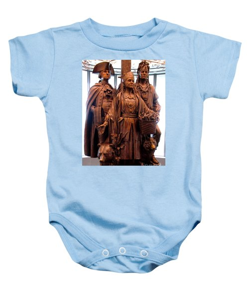National Museum Of The American Indian 8 Baby Onesie by Randall Weidner