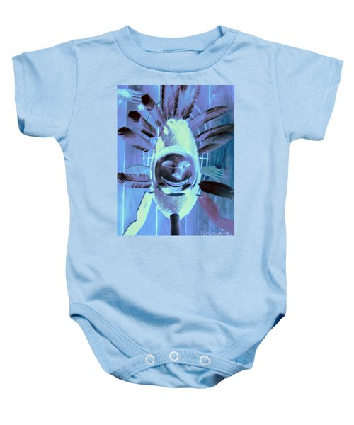 National Museum Of The American Indian 9 Baby Onesie by Randall Weidner