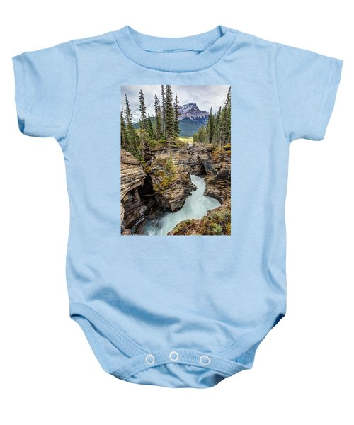 Natural Flow Of Athabasca Falls Baby Onesie