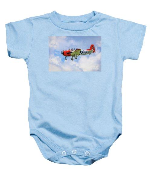 Navy Trainer #2 Baby Onesie
