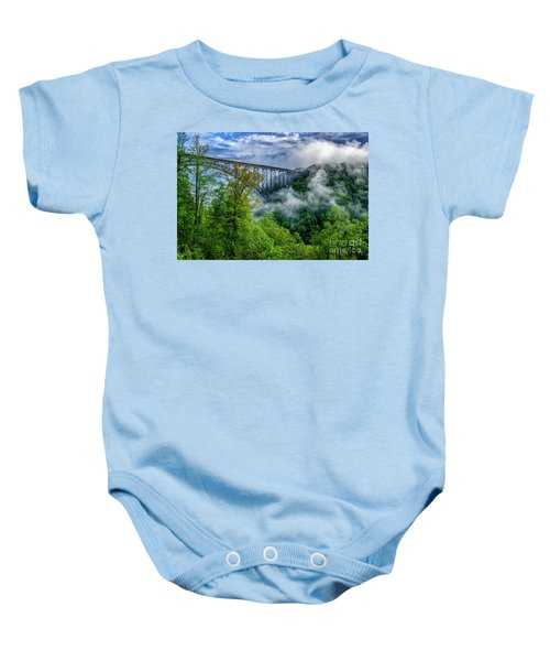 New River Gorge Bridge Morning  Baby Onesie