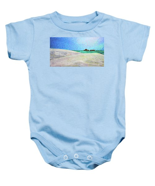 New Smyrna Beach As Seen From A Dune On Ponce Inlet Baby Onesie