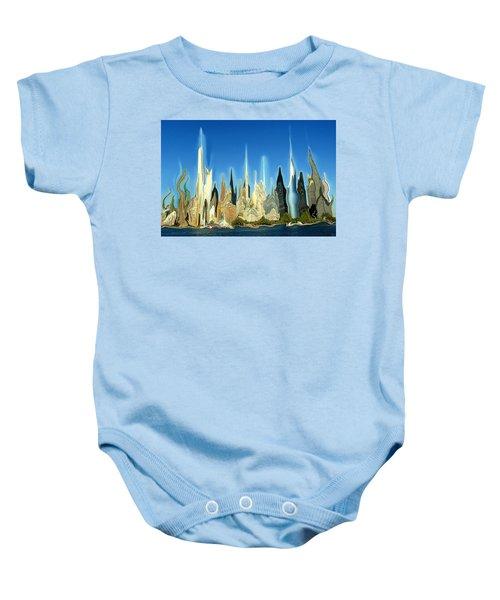 New York City Skyline 2100 - Modern Artwork Baby Onesie