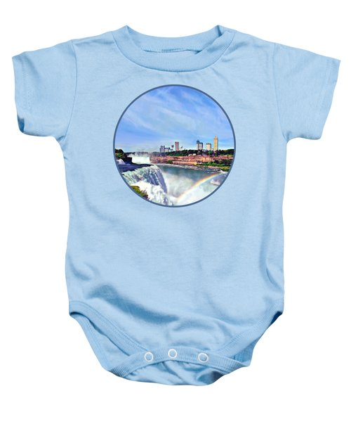 Niagara Falls Ny - Under The Rainbow Baby Onesie