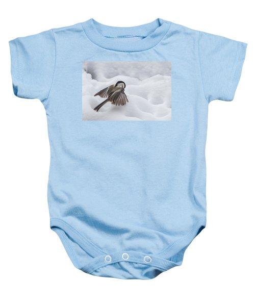 Chickadee - Wings At Work Baby Onesie
