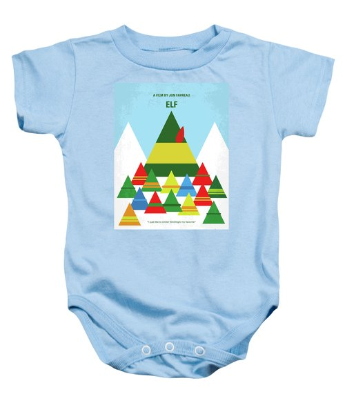 No699 My Elf Minimal Movie Poster Baby Onesie