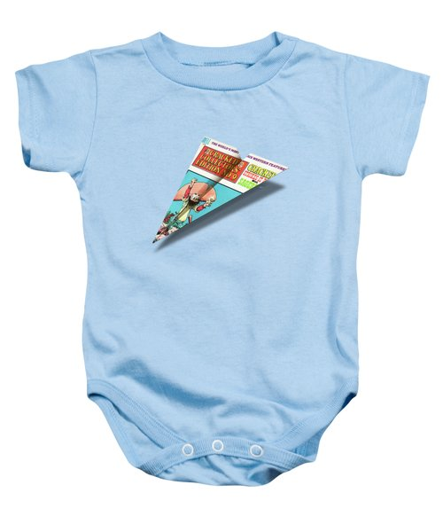 No.9 Cracked Mad Paper Airplanes Baby Onesie