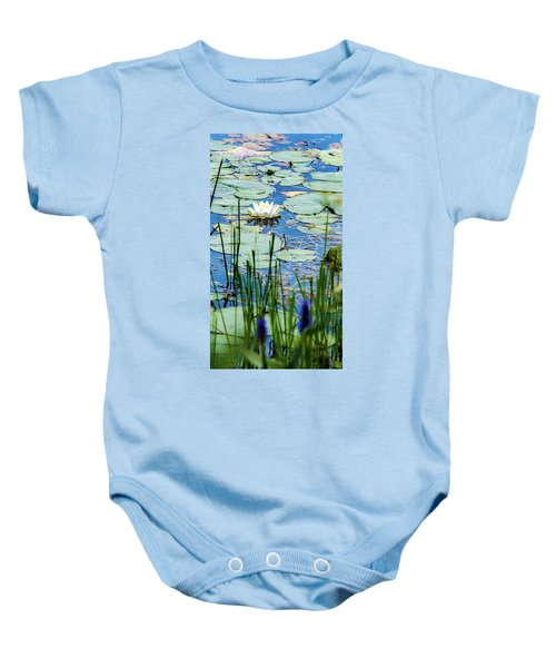 North American White Water Lily Baby Onesie