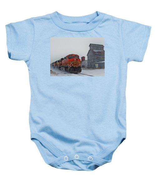 Northbound Winter Coal Drag Baby Onesie