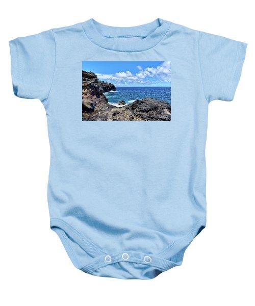 Northern Maui Rocky Coastline Baby Onesie