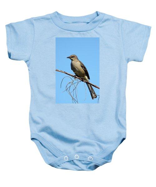 Northern Mockingbird Baby Onesie by Bruce J Robinson