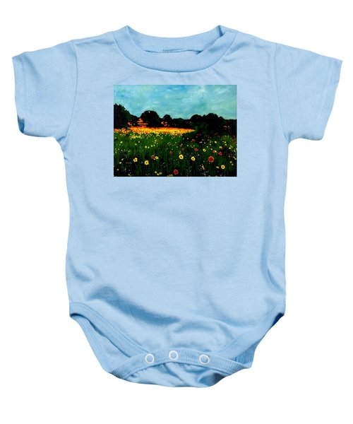 Not Another Bluebonnet Painting Baby Onesie