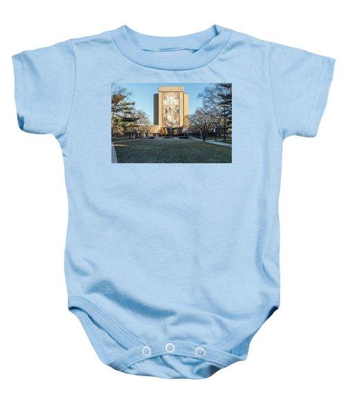 Notre Dame Touchdown Jesus  Baby Onesie