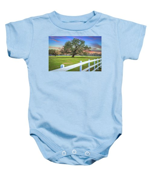 Oak Alley Signature Tree At Sunset Baby Onesie