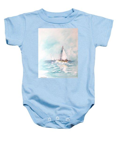 Ocean Blues Baby Onesie