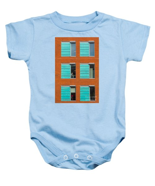 Office Windows Baby Onesie