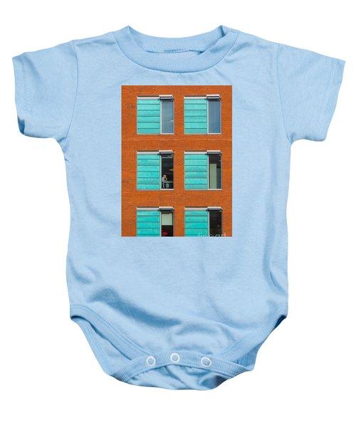 Office Windows Baby Onesie