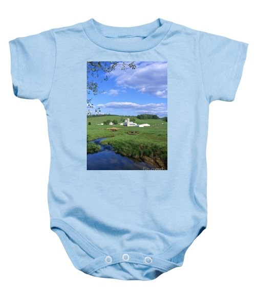 3d203 Ohio Farm Photo Baby Onesie
