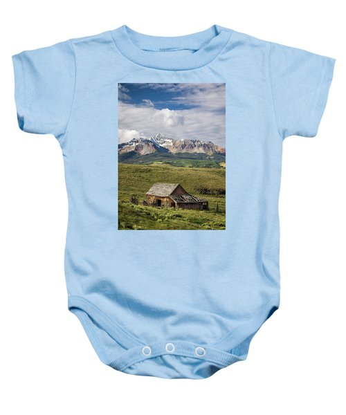 Old Barn And Wilson Peak Vertical Baby Onesie