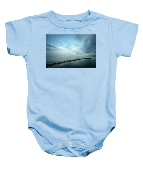 Old Blue Morning Baby Onesie