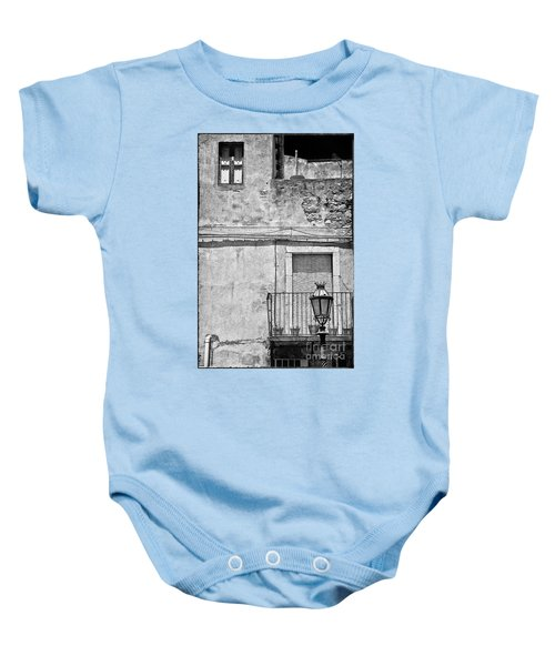 Old House In Taormina Sicily Baby Onesie