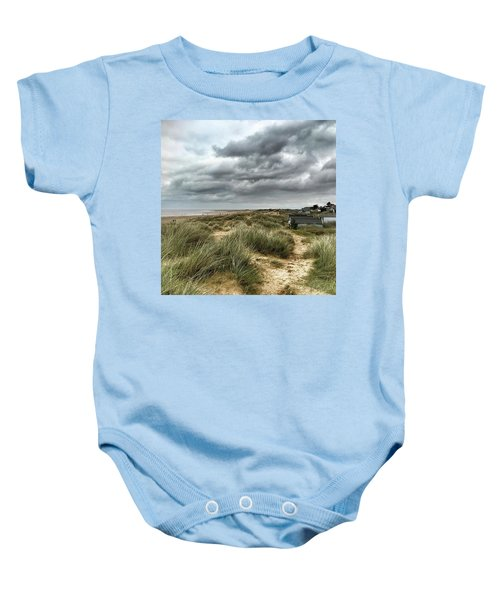 Old Hunstanton Beach, North #norfolk Baby Onesie