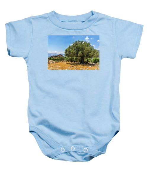 Olive Tree And Nimrod Fortress Baby Onesie