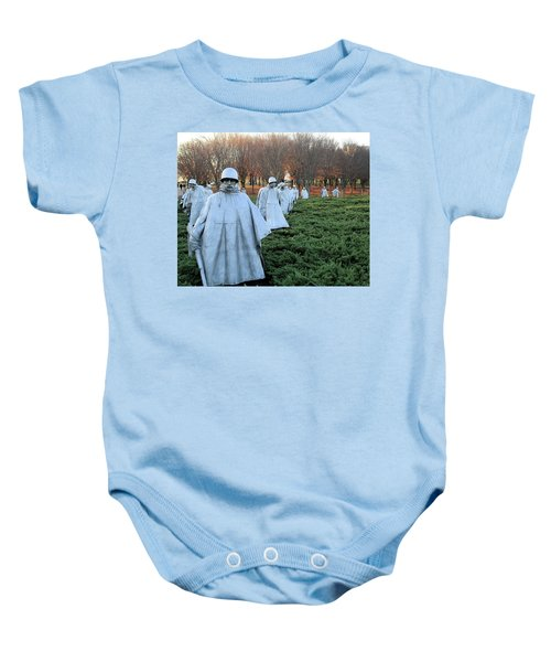 On Patrol The Korean War Memorial Baby Onesie