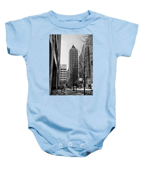 One Atlantic Center In Black And White Baby Onesie