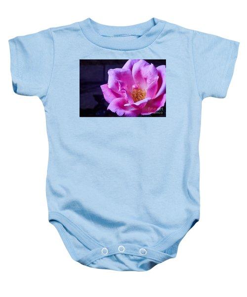 Open Rose Baby Onesie