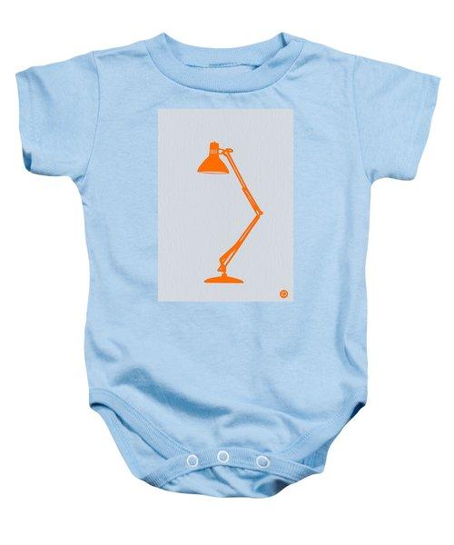 Orange Lamp Baby Onesie