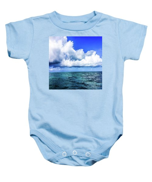 Out On The Open Sea Baby Onesie