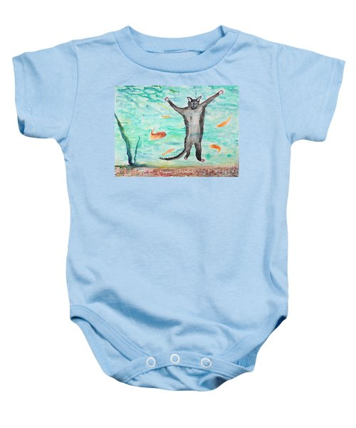 Outside The Fish Tank Baby Onesie