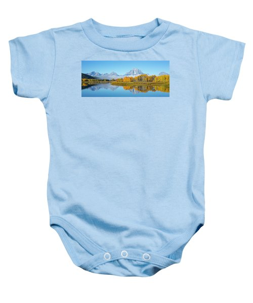 Oxbow Bend Pano In Autumn Baby Onesie