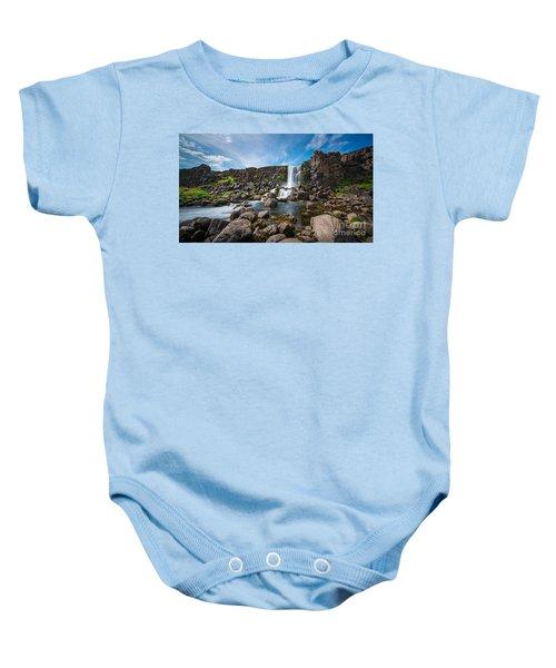 Oxararfoss Waterfall  Baby Onesie