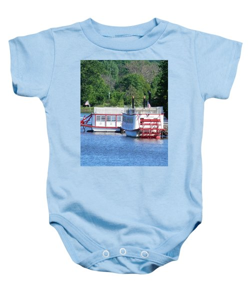 Paddleboat On The River Baby Onesie