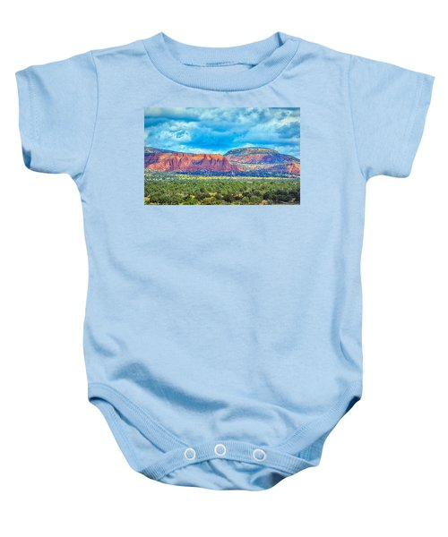 Painted New Mexico Baby Onesie