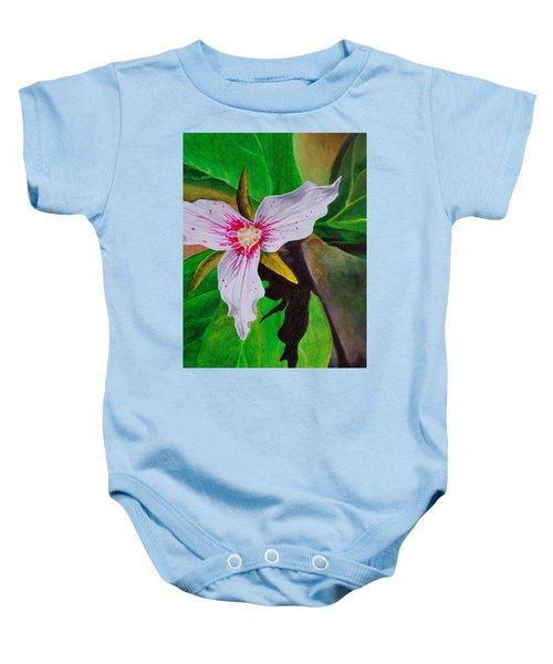 Painted Trillium Baby Onesie