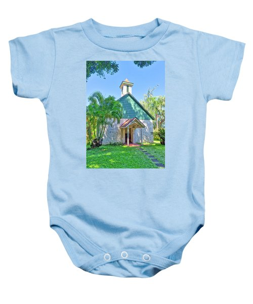 Baby Onesie featuring the photograph Palapala Ho'omau Congregational Church by Jim Thompson