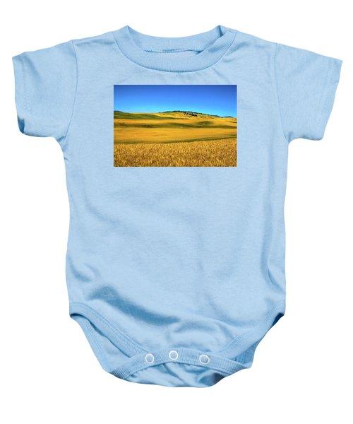 Palouse Wheat Field Baby Onesie