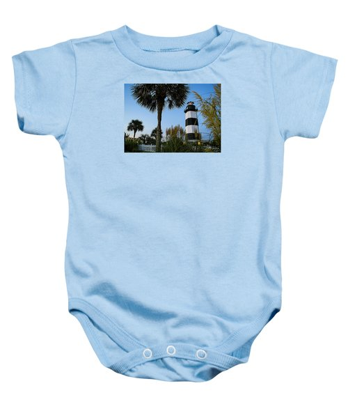 Pampas Grass, Palms And Lighthouse Baby Onesie