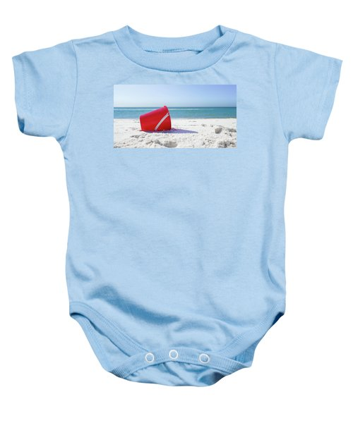 Panama Beach Florida Sandy Beach Baby Onesie