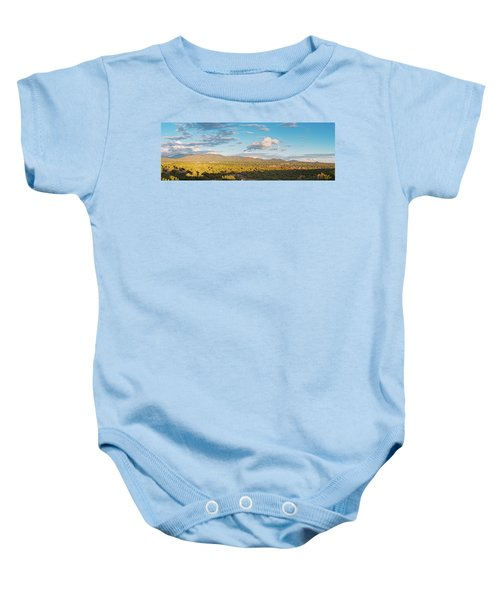Panorama Of Santa Fe And Sangre De Cristo Mountains - New Mexico Land Of Enchantment Baby Onesie