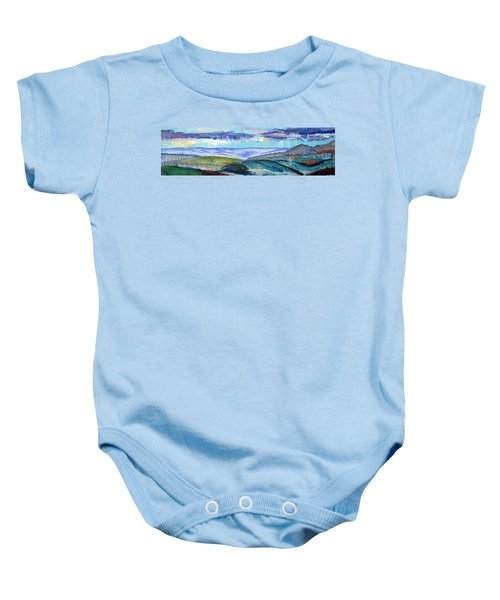 Panoramic View From Exeter Of Devon Hills Baby Onesie