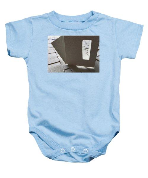 Paper Structure-3 Baby Onesie