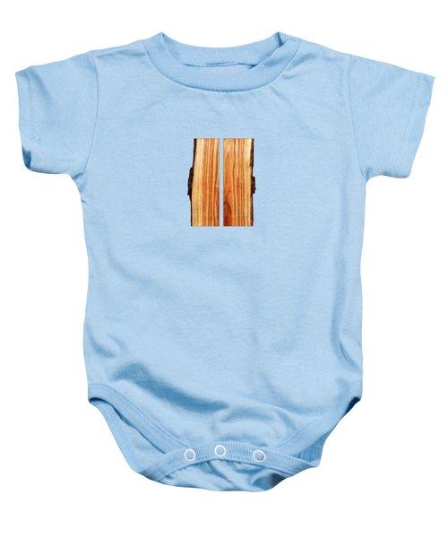 Parallel Wood Baby Onesie