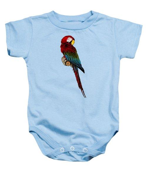 Parrot Art Baby Onesie