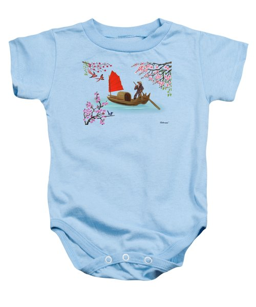 Peaceful Journey Baby Onesie by Glenn Holbrook